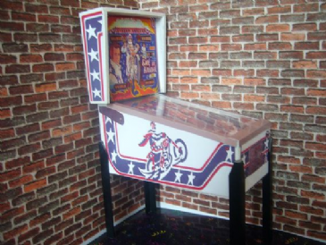 Evil Knievel ~ 1/12th Scale Miniature Pinball Table Model